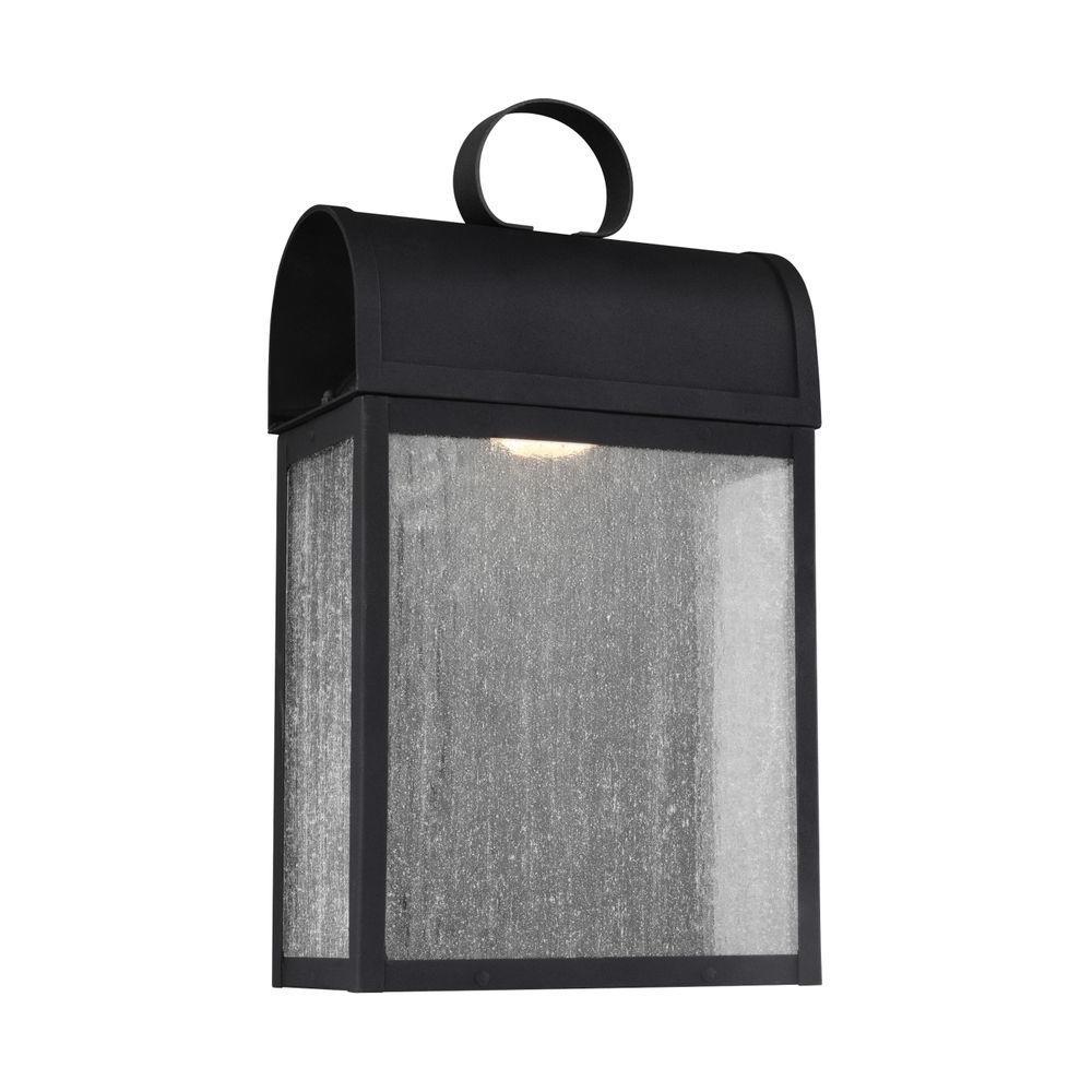 Conroe 1-Light Black Wall Lantern