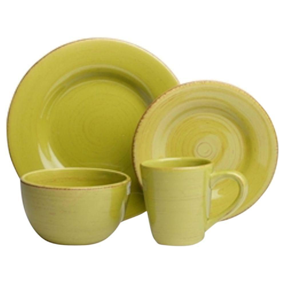 Sonoma 16-Piece Dinnerware Set in Apple Green