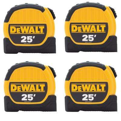 25 ft. x 1-1/8 in. Tape Measure (4-Pack)
