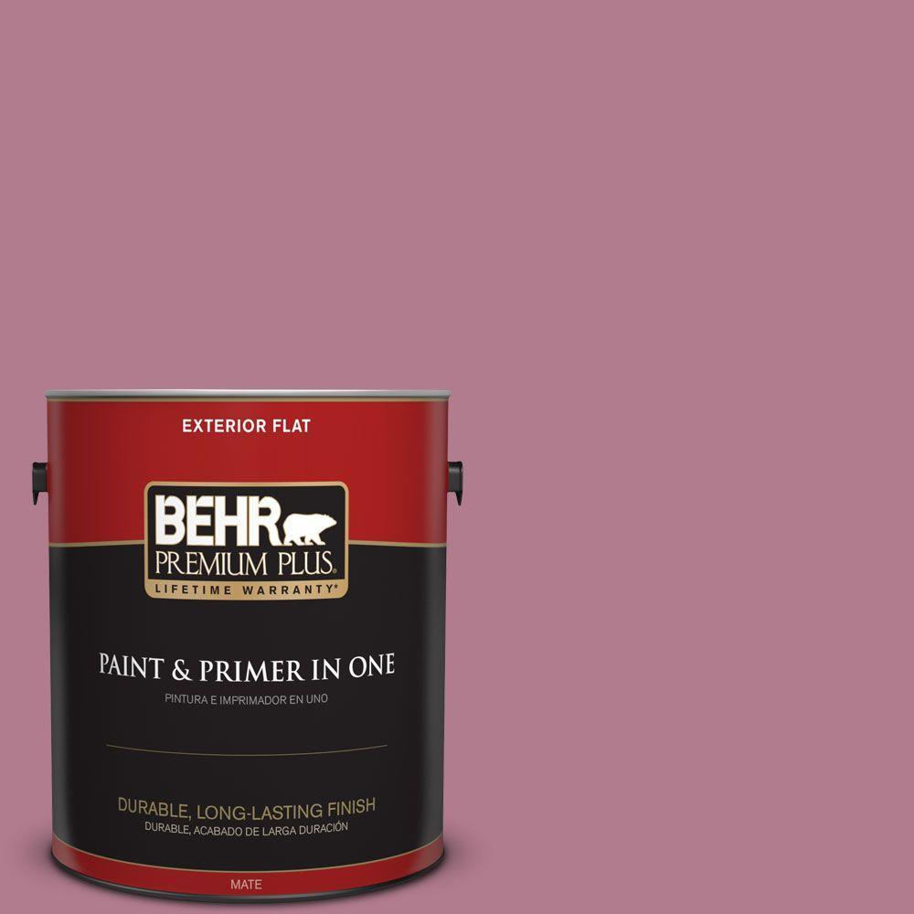 1-gal. #100D-4 Degas Pink Flat Exterior Paint