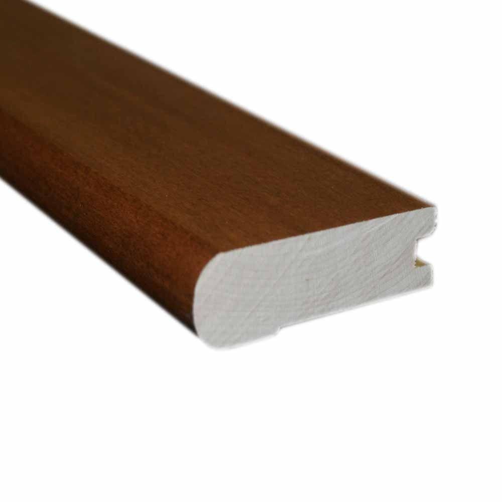 Oak Gunstock 1/2 in. Thick x 3 in. Wide x 78 in. Length Hardwood Flush-Mount Stairnose Molding