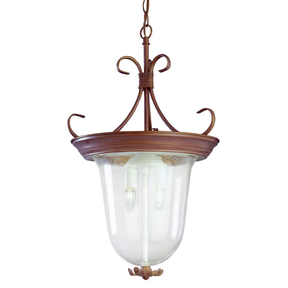 Bel Air Lighting 2-Light Sand Brown Pendant