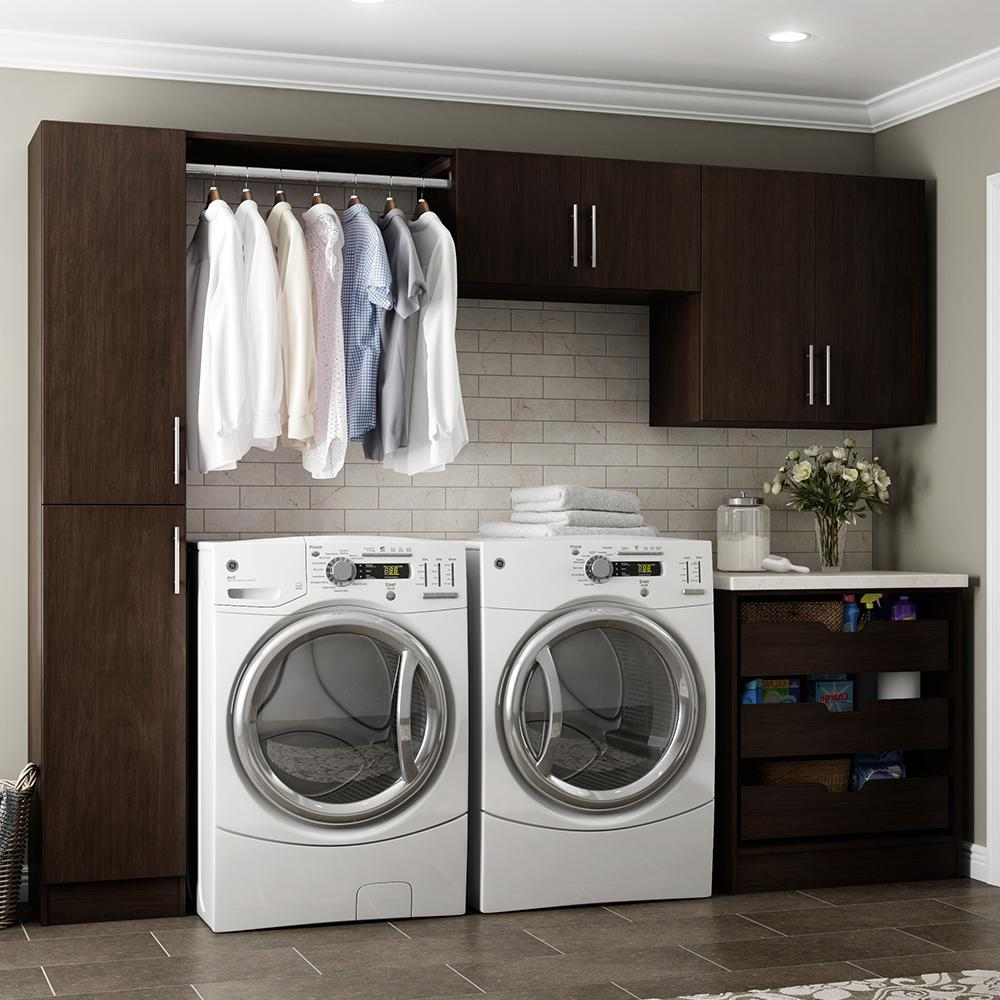 Horizon 105 in. W Mocha Laundry Cabinet Kit