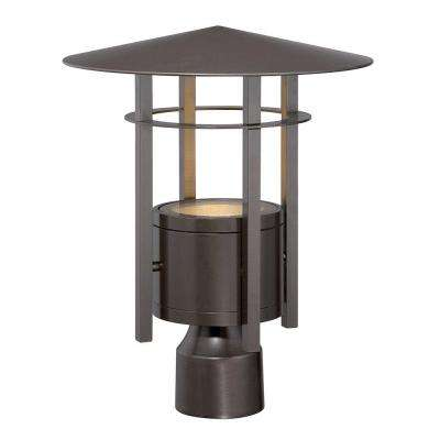 Englewood Burnished Bronze Outdoor LED Post Lantern