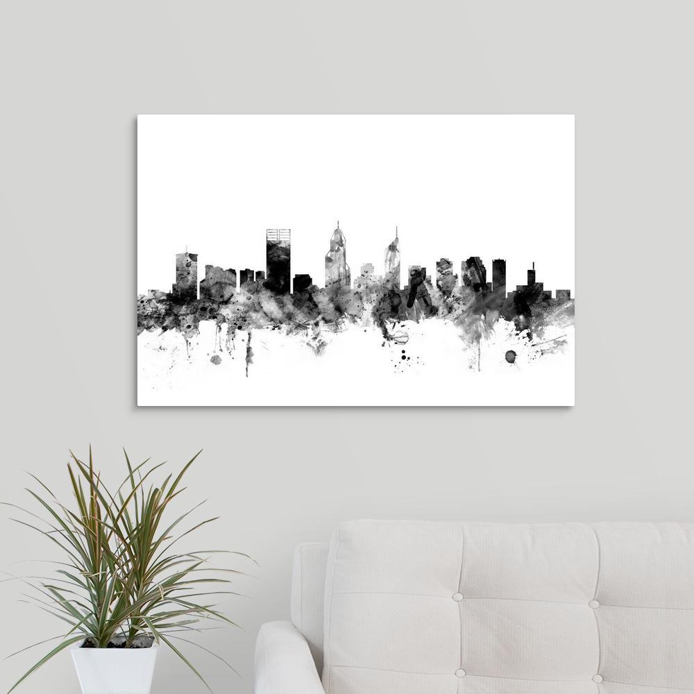 30 in. x 20 in. ''Perth Australia Skyline'' by  Michael Tompsett Canvas Wall Art