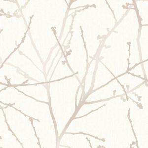 Graham & Brown Stone and Cream Innocence Removable Wallpaper by Graham & Brown