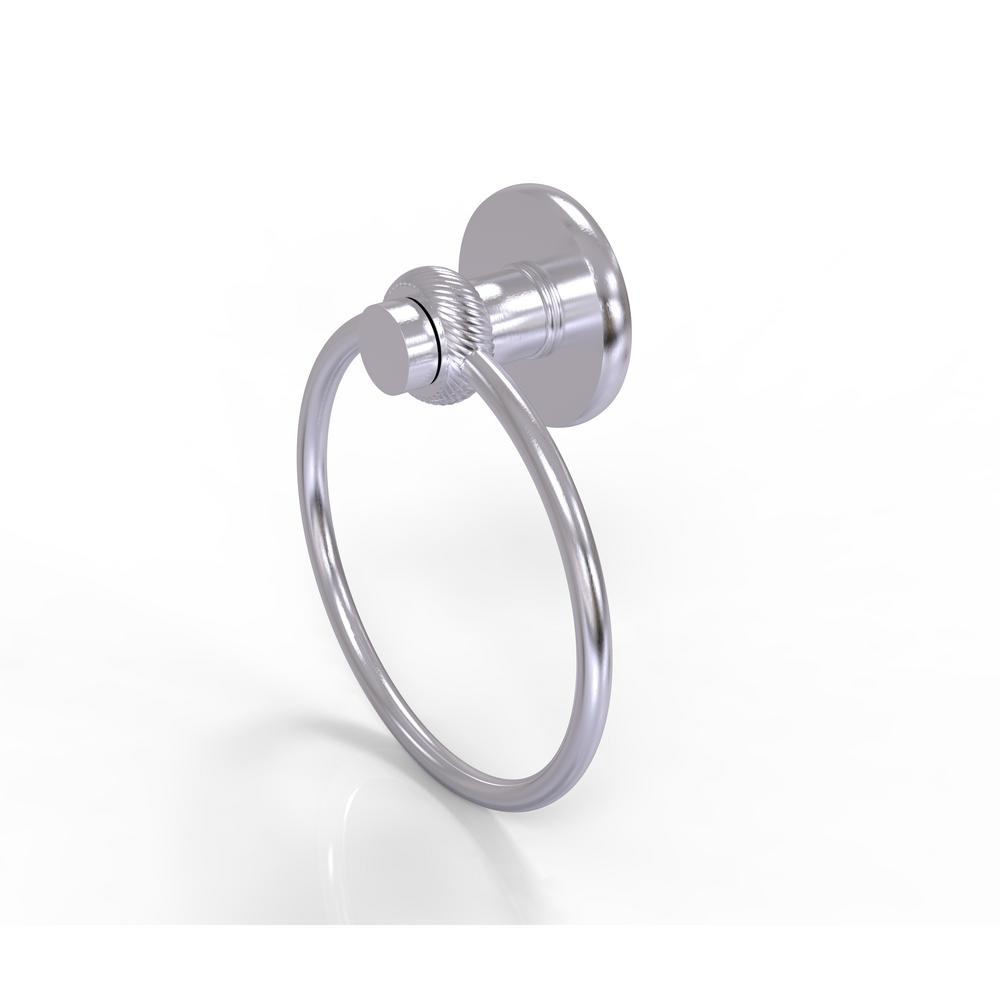 Allied Brass Mercury Collection Towel Ring with Twist Accent in Satin Chrome