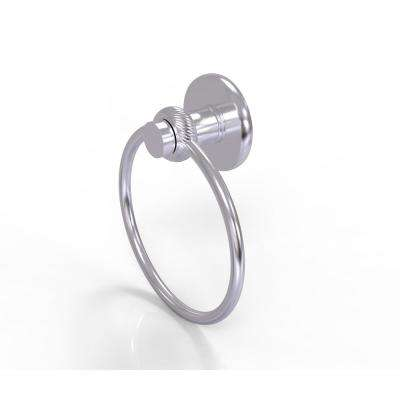 Mercury Collection Towel Ring with Twist Accent in Satin Chrome
