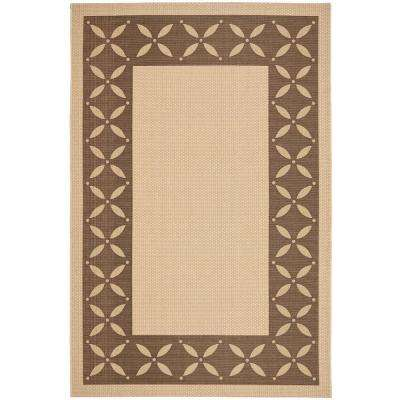 Mallorca Border Cream/Chocolate 5 ft. x 8 ft. Area Rug