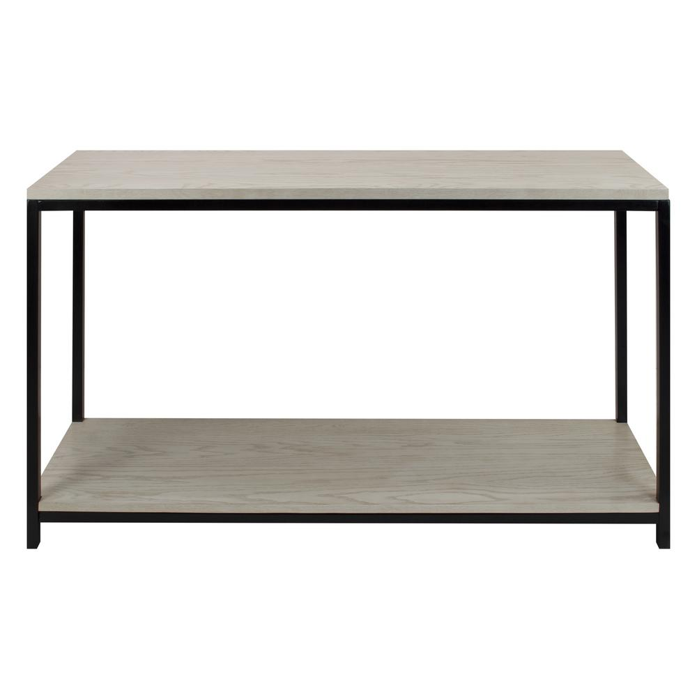 Studio White Washed Solid Red Oak Top/Shelf Console Table