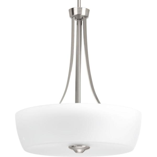 Leap Collection 3 -Light Brushed Nickel Pendant