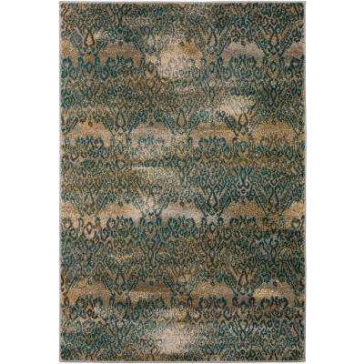 Bach 1 Teal 9 ft. 6 in. x 13 ft. 2 in. Area Rug