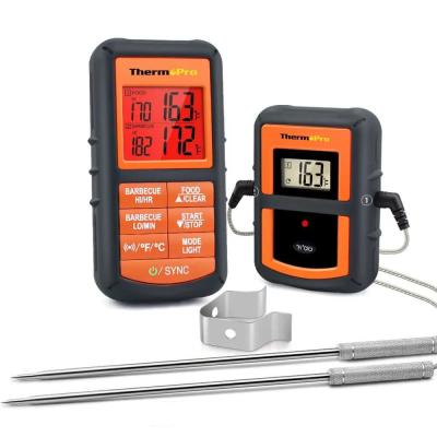 Wireless Remote Digital Kitchen Cooking Meat Thermometer Dual Probe for BBQ Smoker Grill Oven