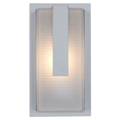 Neptune 7 in. 1-Light Satin Outdoor Wall Mount Sconce