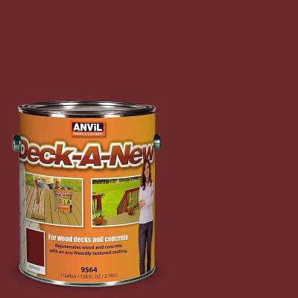 Deck-A-New 1-gal. Redwood Rejuvenates Wood and Concrete Decks Premium Textured Resurfacer