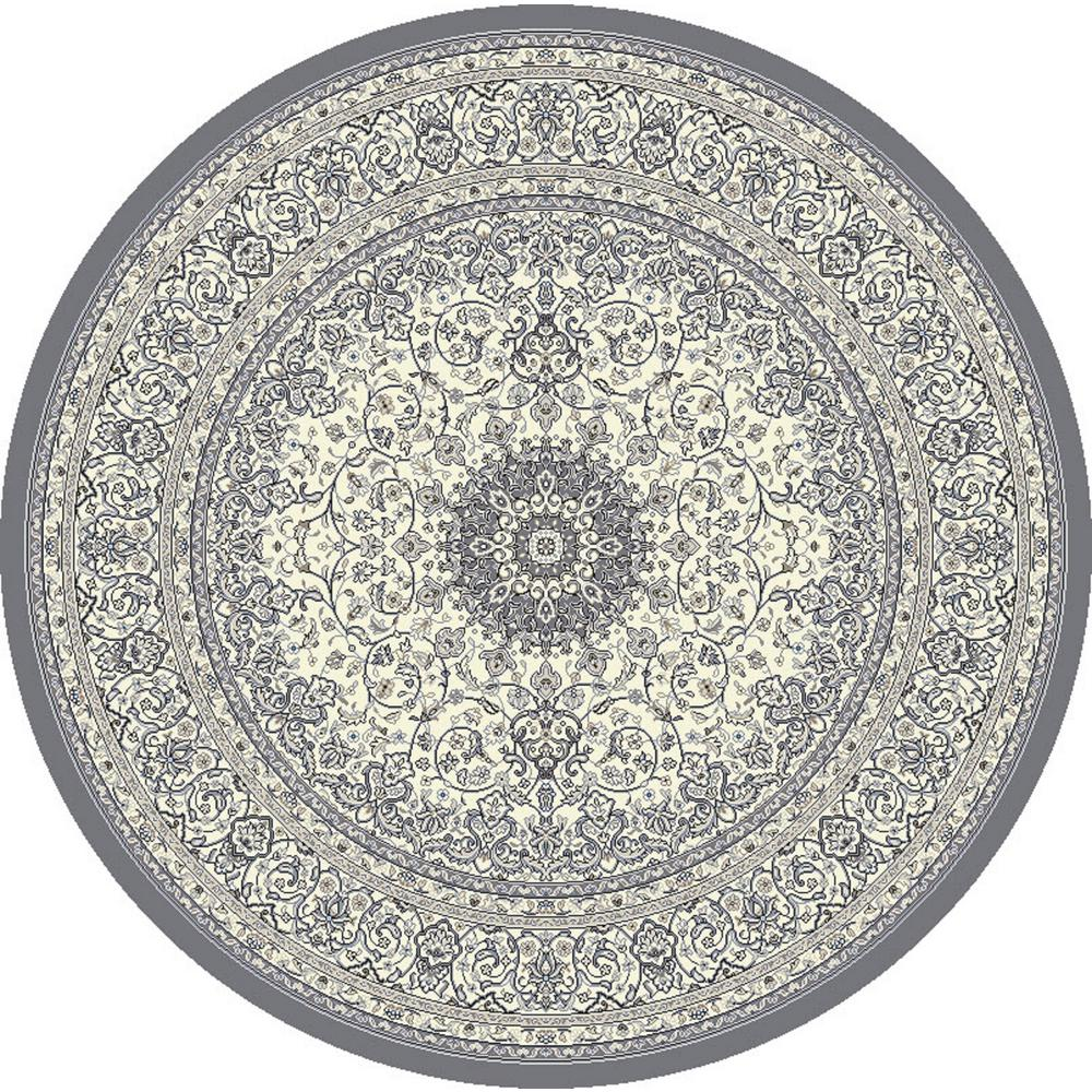 Ancient Garden Cream/Grey 5 ft. Round Area Rug