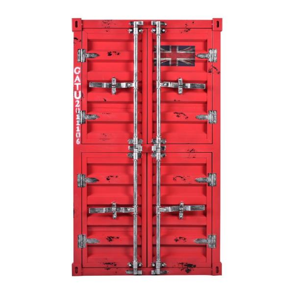 Today's Mentality Redner Rustic Red Cabinet