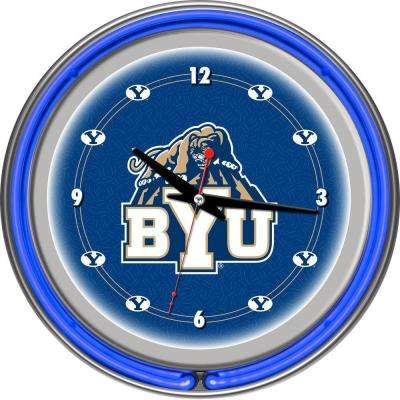 14 in. BYU Neon Wall Clock