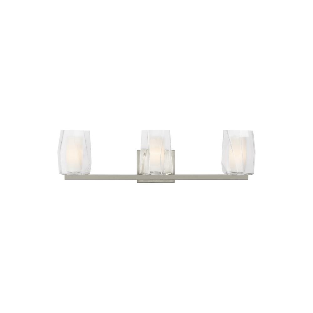 LBL Lighting Avant 3-Light Satin Nickel Bath Light