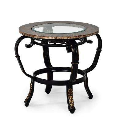 Gallinari Spanish Brown Marble End Table