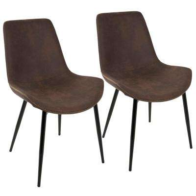 Duke Black and Espresso Dining Chair (Set of 2)