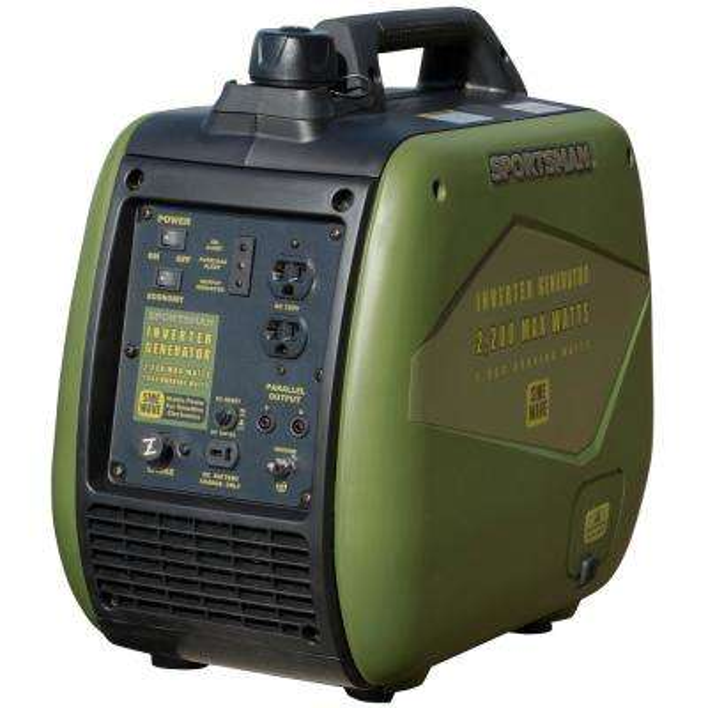 2,200-Watt Gasoline Powered Recoil Start Portable Digital Inverter Generator with Parallel Capability