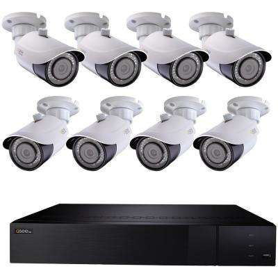 16-Channel 4K Ultra HD 3TB NVR with 8 Wired Ultra HD Bullet Cameras