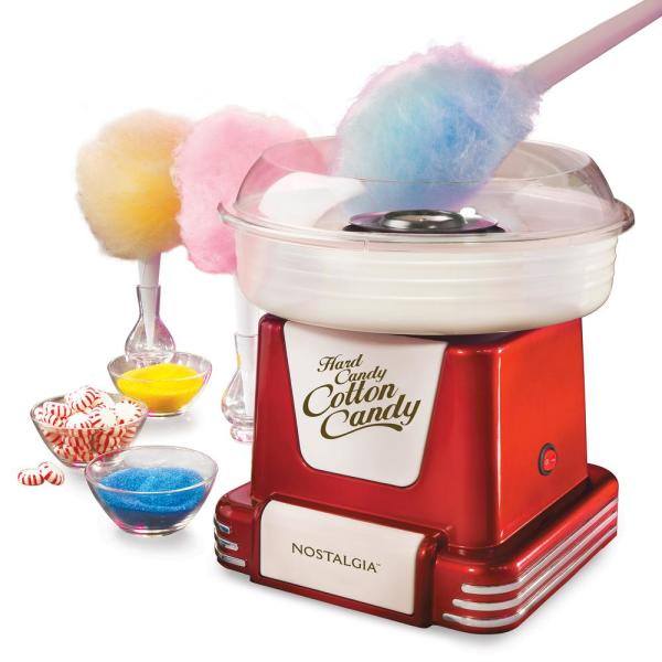 Nostalgia - Retro Red Hard and Sugar Free Cotton Candy Maker with Cotton Candy Cones