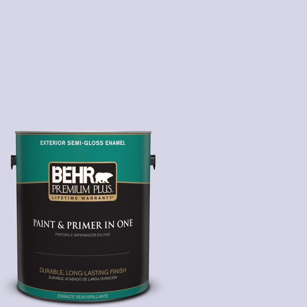 1 gal. #PPU16-08 Hint of Violet Semi-Gloss Enamel Exterior Paint