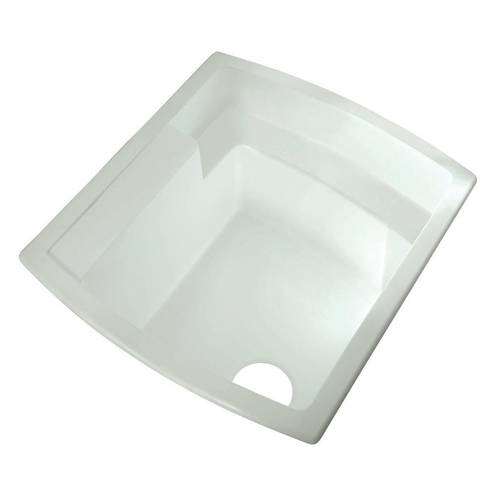 STERLING Latitude 22 in. x 25 in. Vikrell Undermount Utility Sink in White-DISCONTINUED