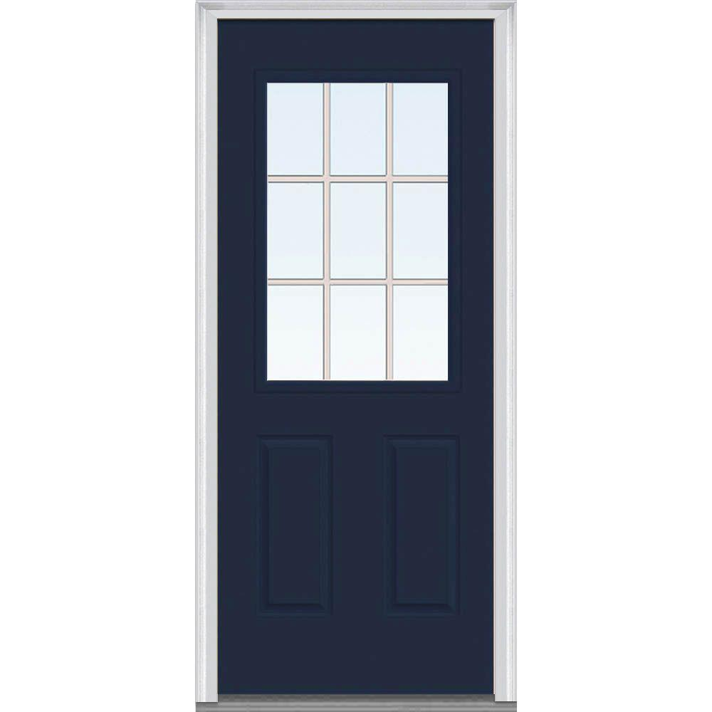 32 x 80 - Blue - Steel Doors - Front Doors - The Home Depot