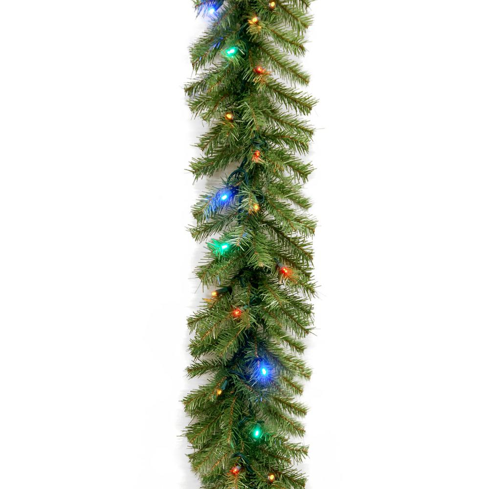 Garland With Multicolor Led Lights Nf 309l 9a 1 The Home Depot