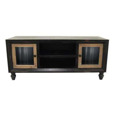 20.5 in. Black Wood Cabinet