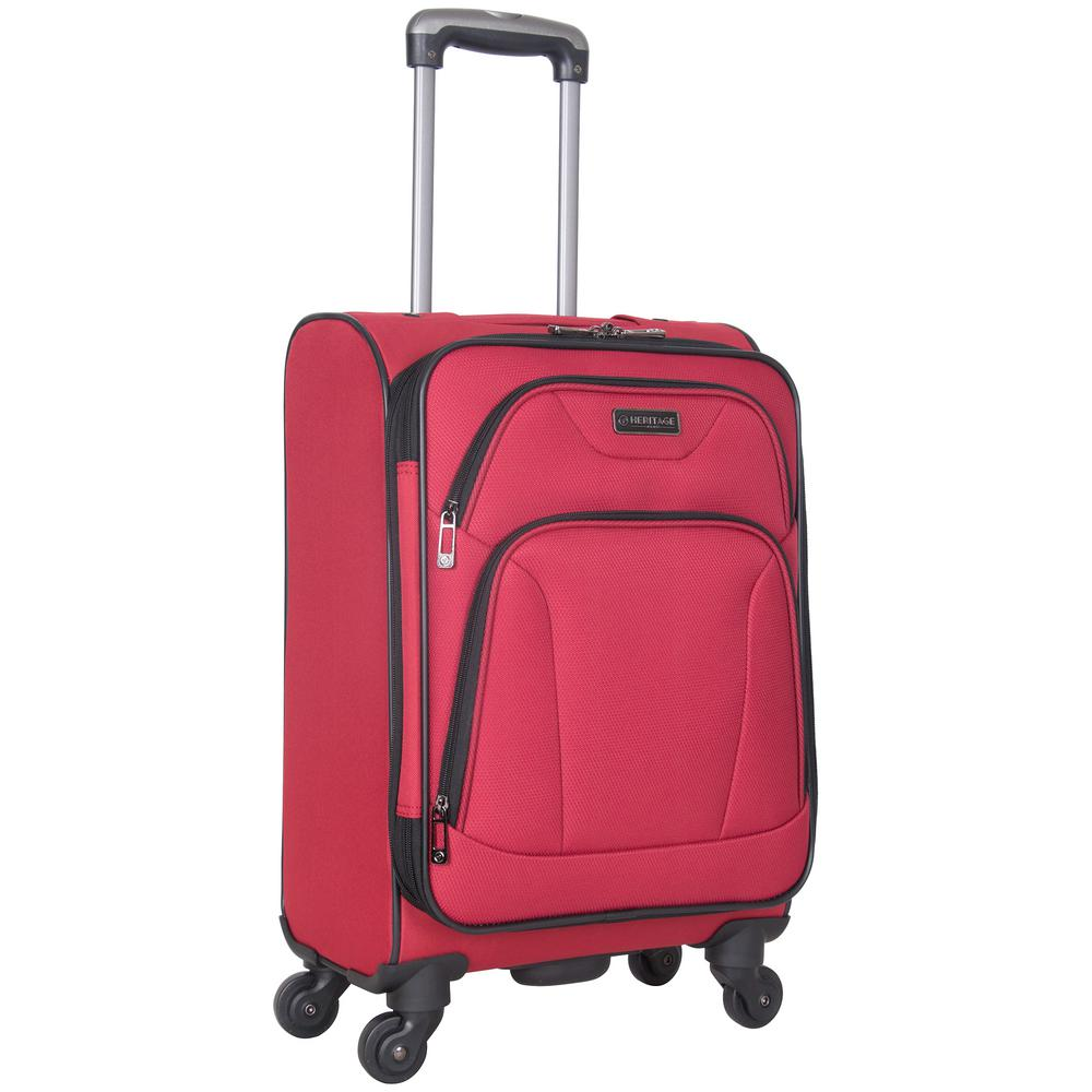 Wicker Park Collection Lightweight Durable Softside 600D Polyester 4-Wheel
