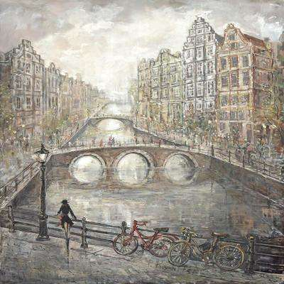 40 in. H x 30 in. W Amsterdam Lovers V Canvas Print Unframed Canvas Wall Art
