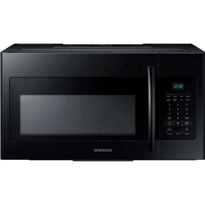 30 in. W 1.6 cu. ft. Over the Range Microwave in Black