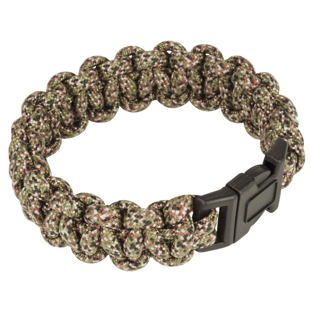 Crown Bolt Forest Camo Paracord Survival Bracelet