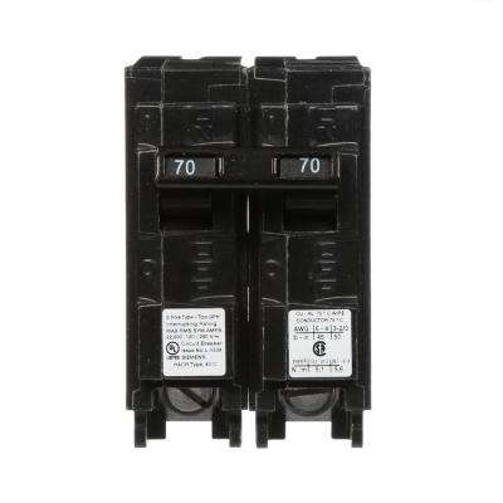 70 Amp 2-Pole QPH 22 kA Circuit Breaker