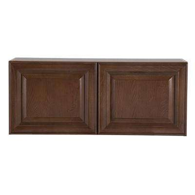Benton Assembled 36x15x12 in. Wall Cabinet in Butterscotch