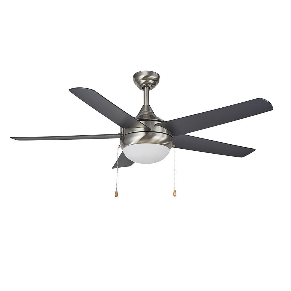 Design House Lexi 52 in. LED Indoor Satin Nickel Ceiling Fan with Light