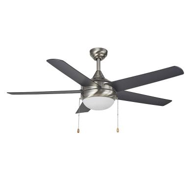 Lexi 52 in. LED Indoor Satin Nickel Ceiling Fan with Light