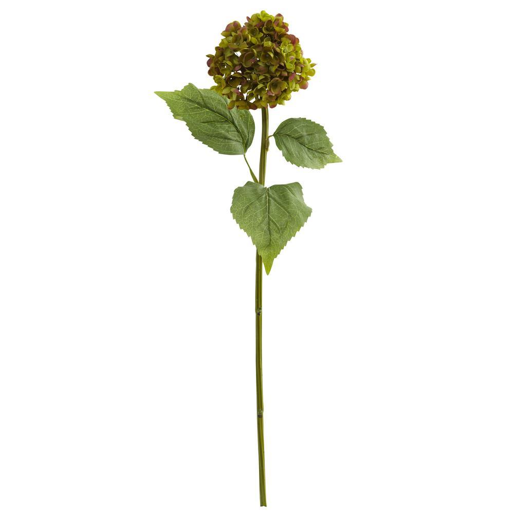 Indoor 30 in. Hydrangea Artificial Flower (Set of 4)