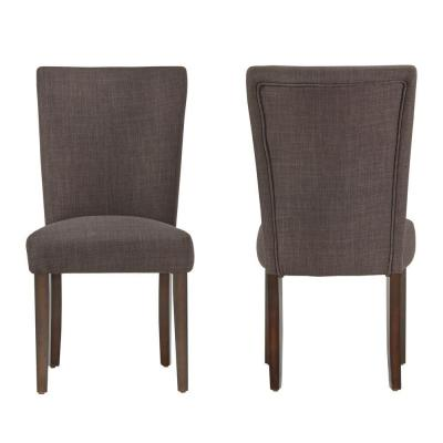Whitmire Charcoal Linen Dining Chair (Set of 2)