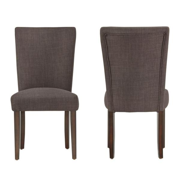 HomeSullivan Whitmire Charcoal Linen Dining Chair (Set of 2)