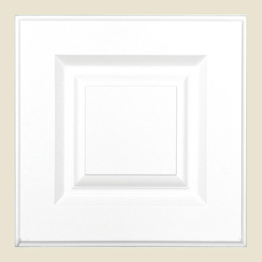12.75x12.75x.75 in. Anzio Ready to Assemble Cabinet Door Sample in Polar