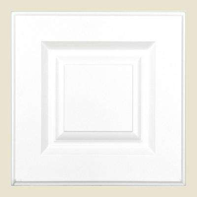 12.75x12.75x.75 in. Anzio Ready to Assemble Cabinet Door Sample in Polar White