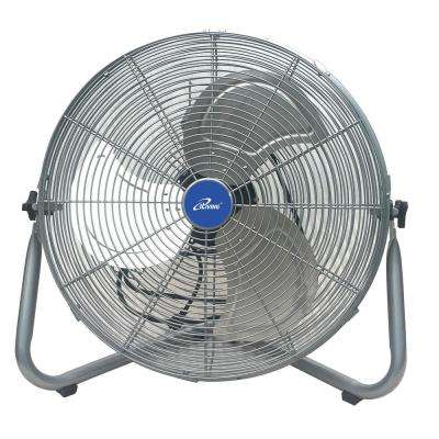 20 in. Super Turbo High Velocity Floor Fan 7500 CFM, 22-Watt Motor, Silver