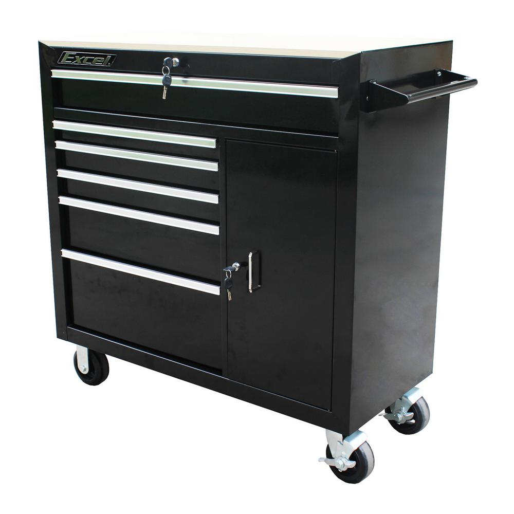 Husky 52 In W 9 Drawer Mobile Workbench Black 75809ahr