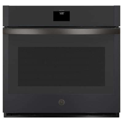 30 in. 5.0 cu. ft. Smart Single Electric Wall Oven with Convection Self-Cleaning in Black Slate, Fingerprint Resistant