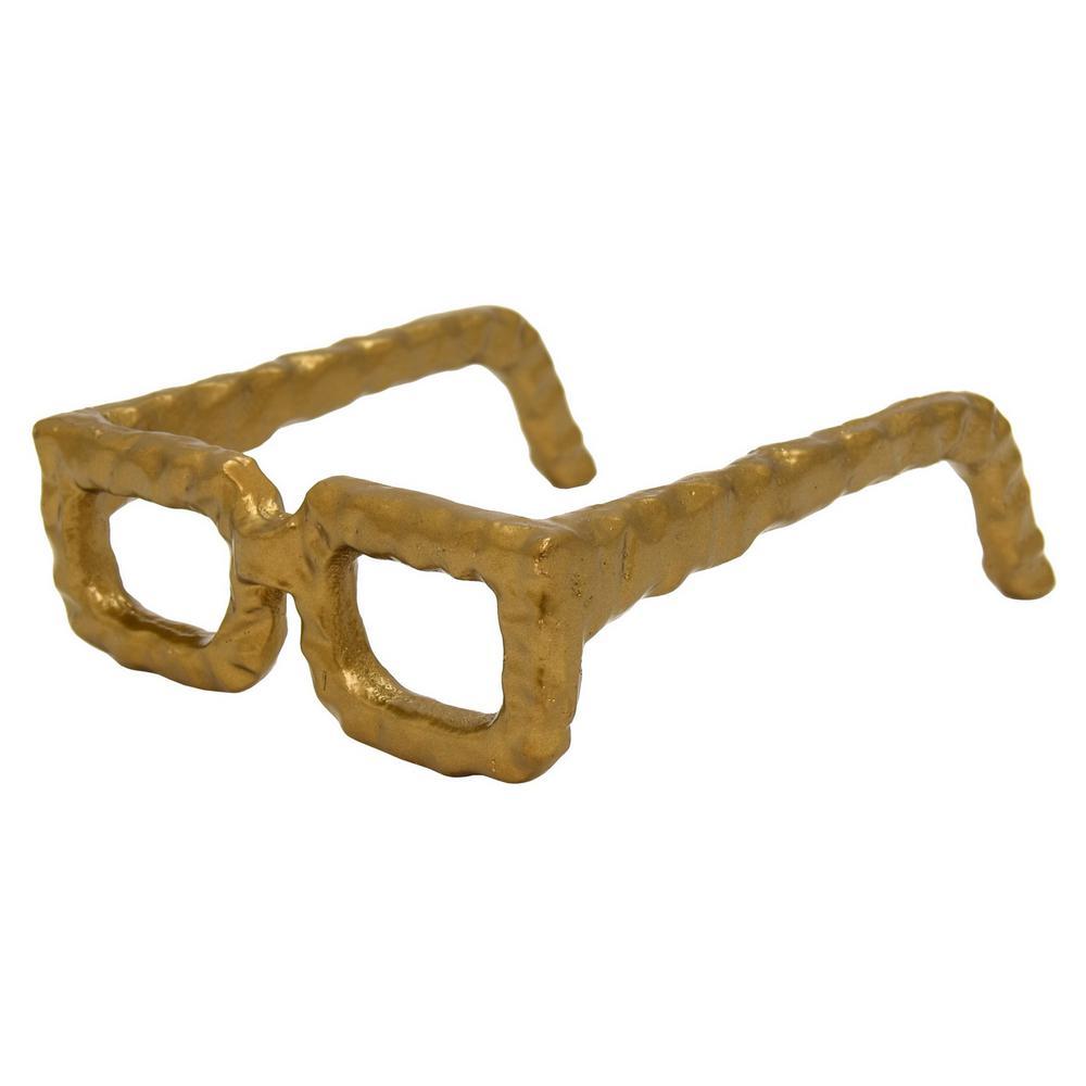 6 in. x 7.5 in. Eye Glass Square Frame in Gold